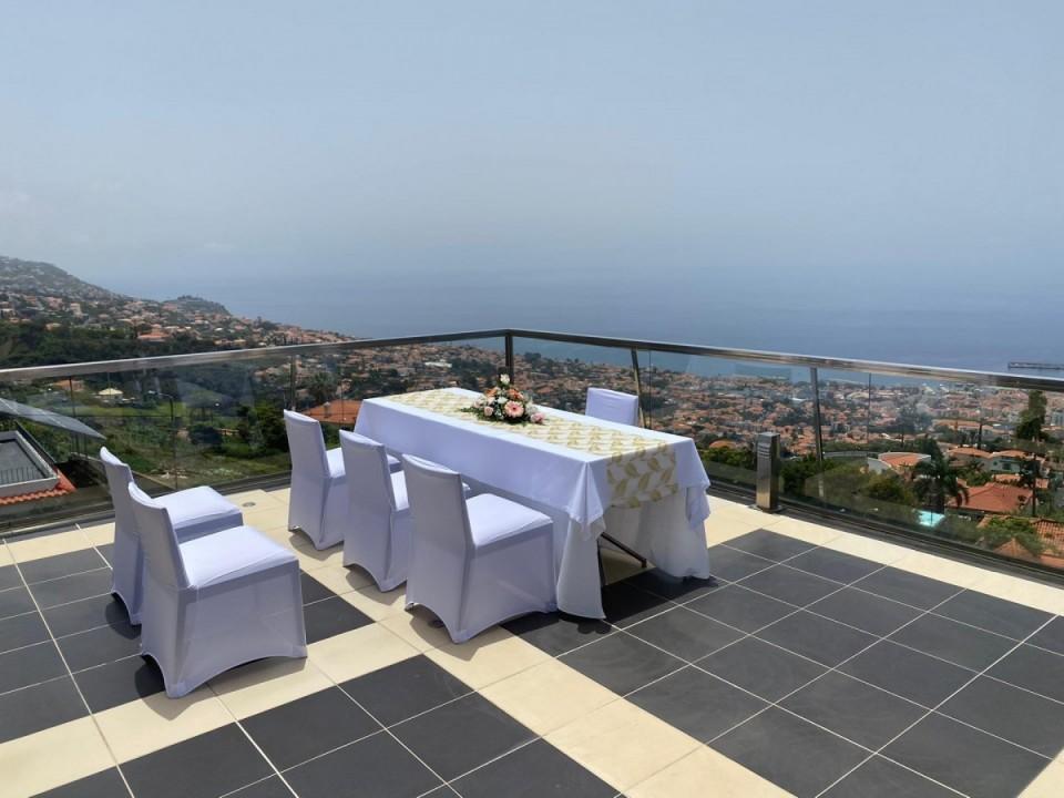 Hochzeitset-up im Quinta Mirabela