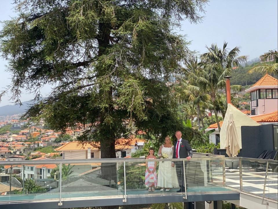 Zeremonie im Quinta Mirabela