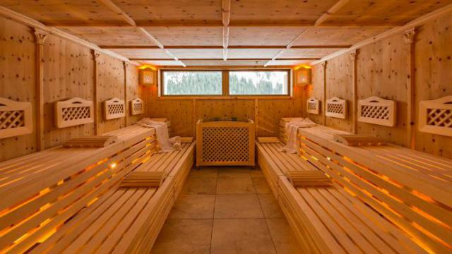 Sauna im Haupthaus Aparthotel