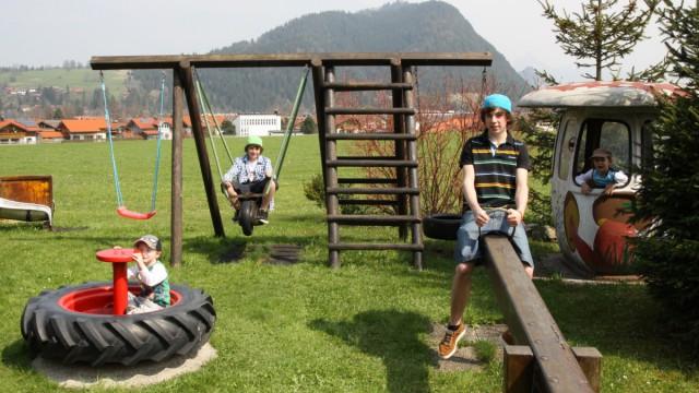 Spielplätze in der Nähe: bei einem Urlaub in Pfronten kommt nie Langeweile auf!