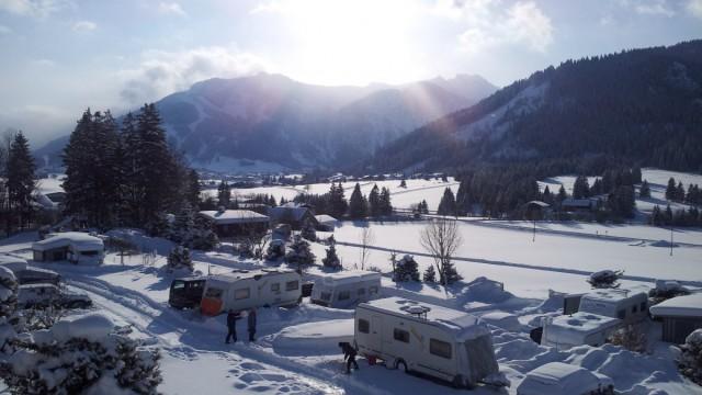 Camping Tannheimer Tal Winter