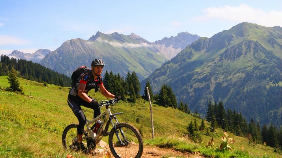 Mountainbiken und Radfahren im Allgäu ist ein beiebter Freizeitsport