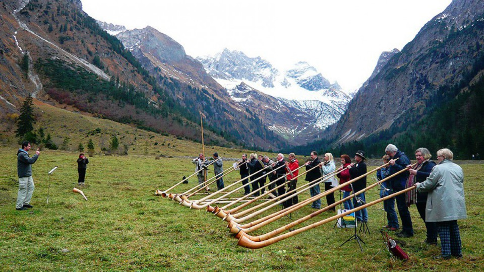 Alphorn Kurs im Allgäu: Alphorn Woche