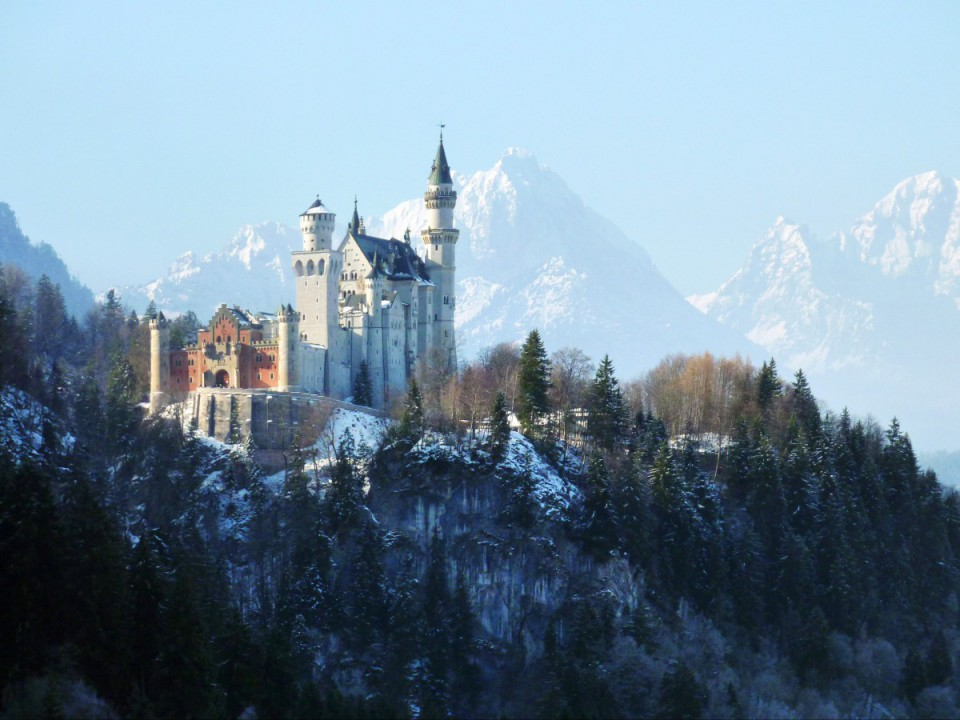 Das beliebte Schloss Neuschwanstein