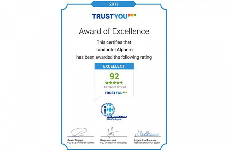 Auszeichnung Trustyou