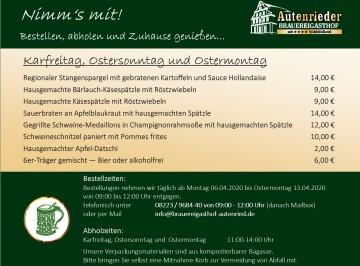 Abhol-Service Karfreitag und Ostern