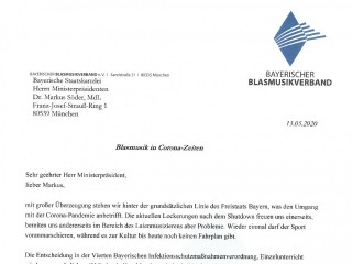 Offener Brief an Ministerpräsident Dr. Markus Söder