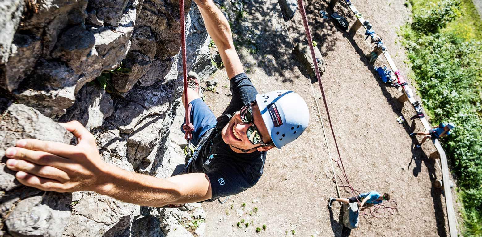 Geführter Klettersteigkurs mit Guide in den Bergen