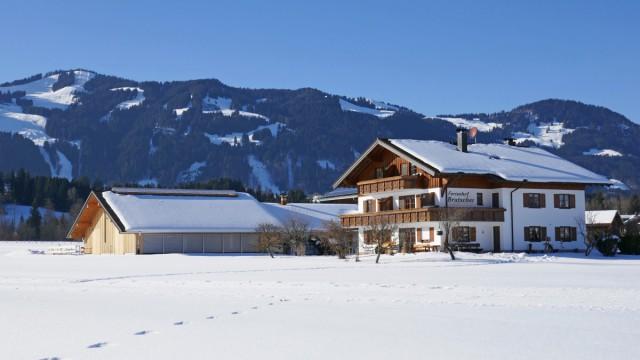 Winter in Fischen im Allgäu