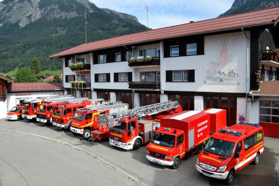 Aktueller Fuhrpark der Feuerwehr Oberstdorf