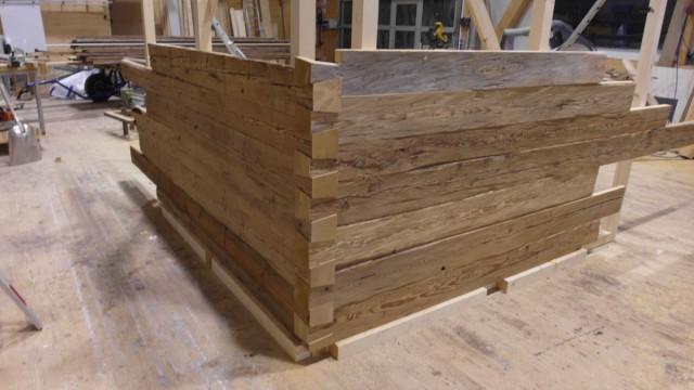 Holzfassenbau aus Holz
