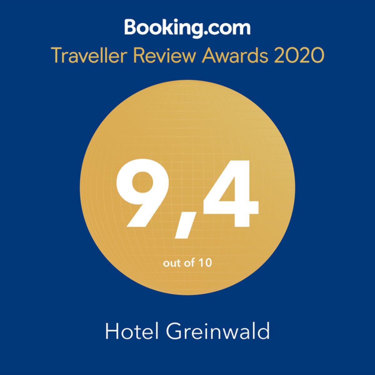 Booking.com Traveler's Award - Hotel Greinwald