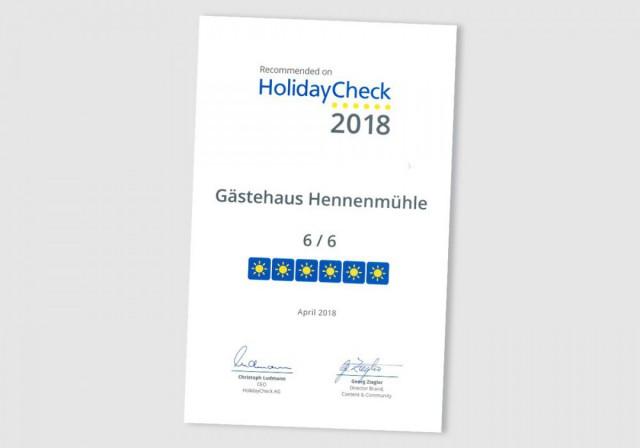 Auszeichnung Holiday Check