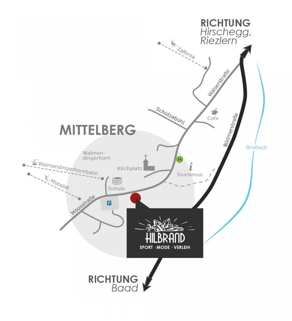 Anfahrt Mittelberg
