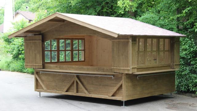 zerlegbare Markthütte, Verkaufsbude