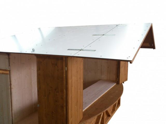 klappbares Vordach, Belegung Aluverbundplatte