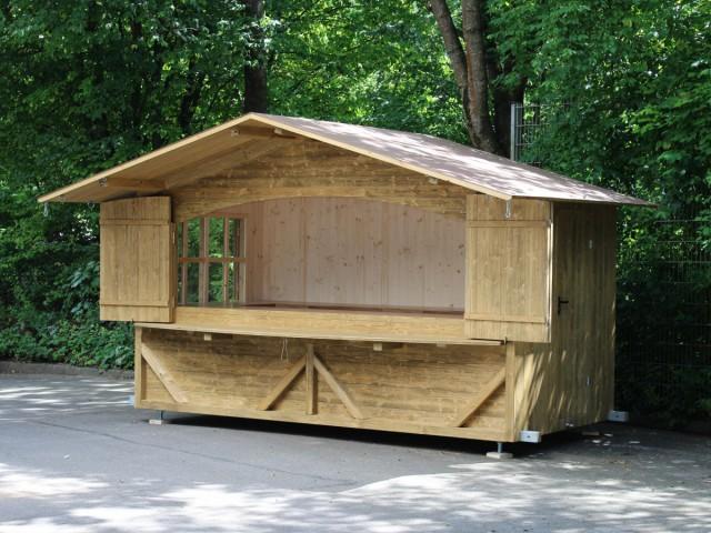 mobile Markthütte fix montiert