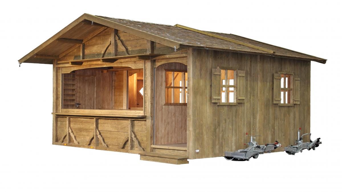 fahrbare Hütten mit Gastraum