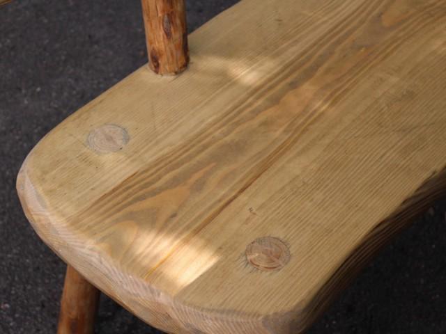 Detail Sitzbank für Gastrohütten