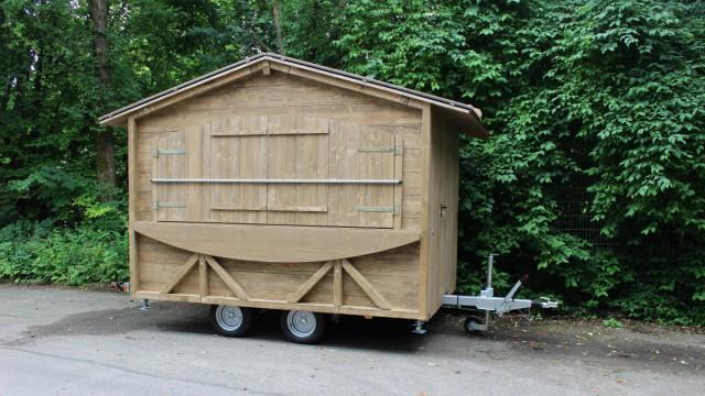 Anhängerhütte Senkomat fahrbereit