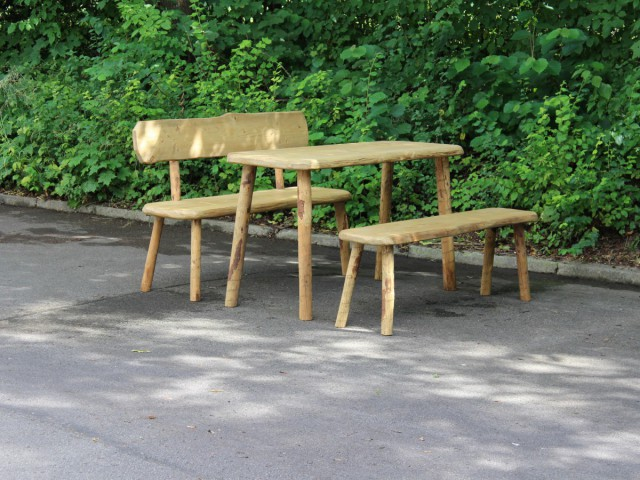 Tisch Bänke Rustikal für Almhütte