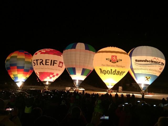 Bild vom Ballonglühen in Jungholz am 14.1.20