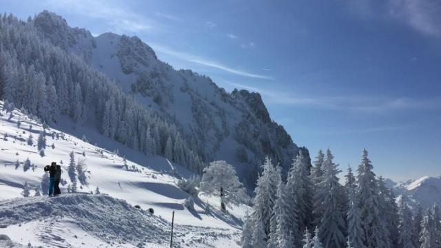 Aussicht Bergstation Schrofenlifte