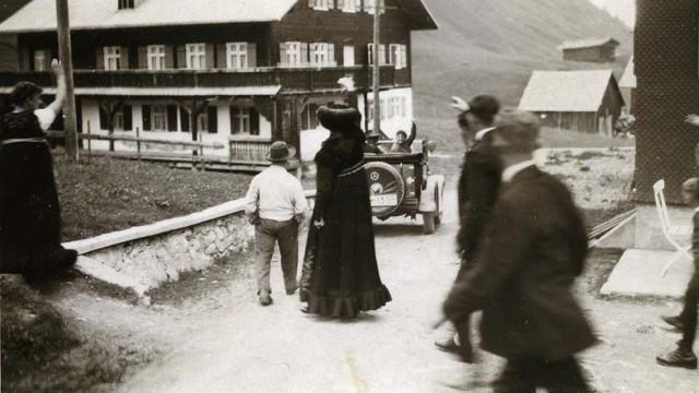 Familie in Mittelberg früher