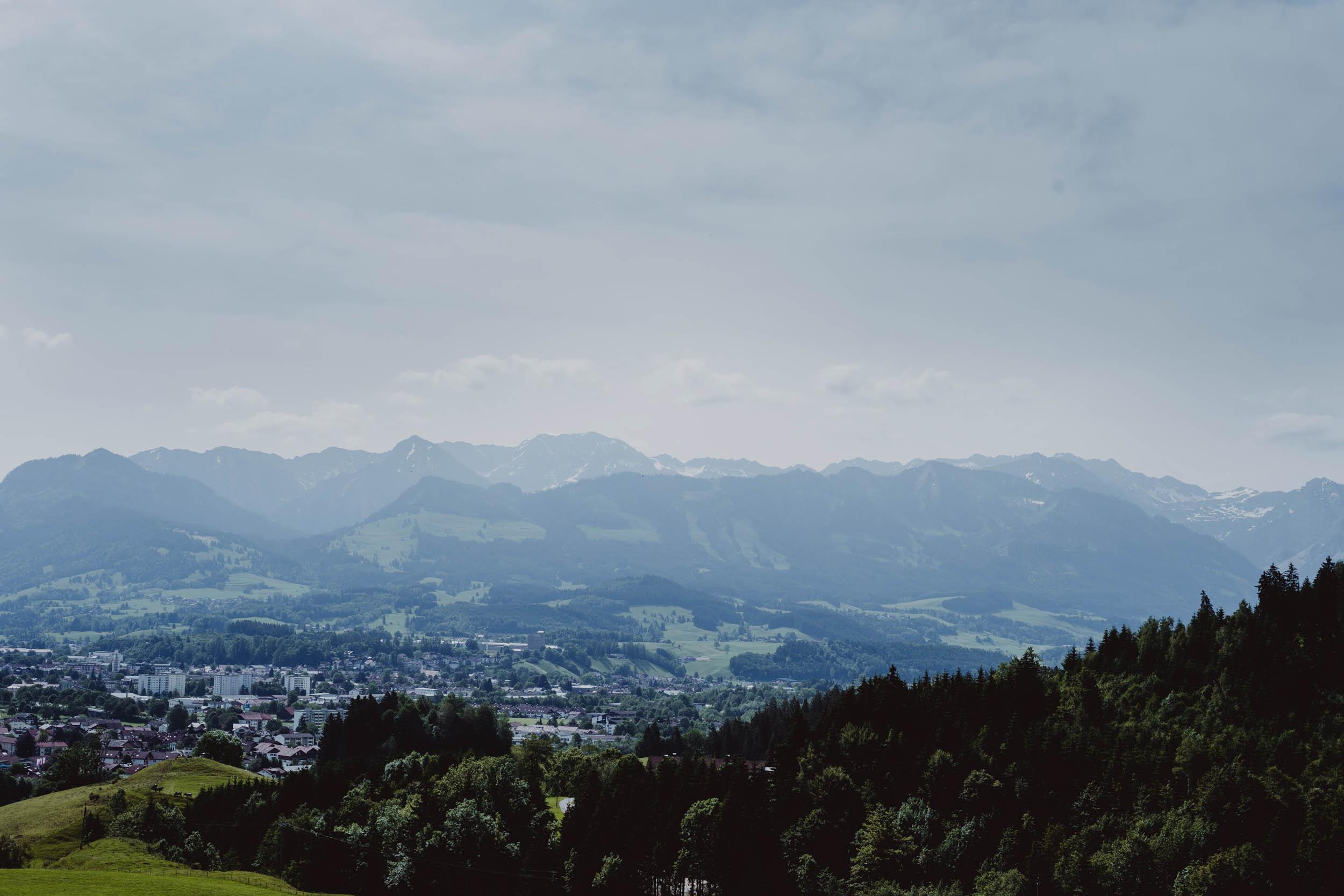 Ausblick auf Allgäuer Berge