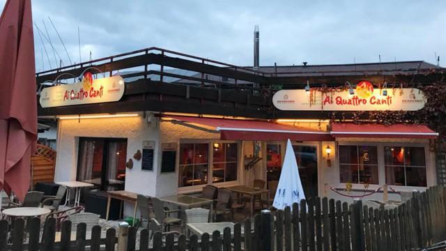 Erneuerung Außenbeleuchtung, Pizzeria Ai Quattro Canti Oberstdorf