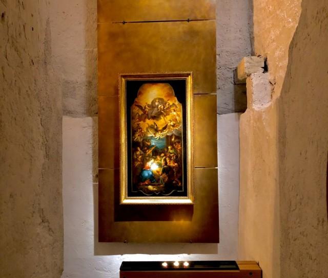Installation Beleuchtung Katholische Kirche Oberstdorf
