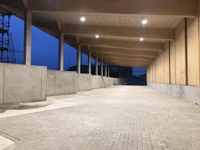 Installation Hallenbeleuchtung