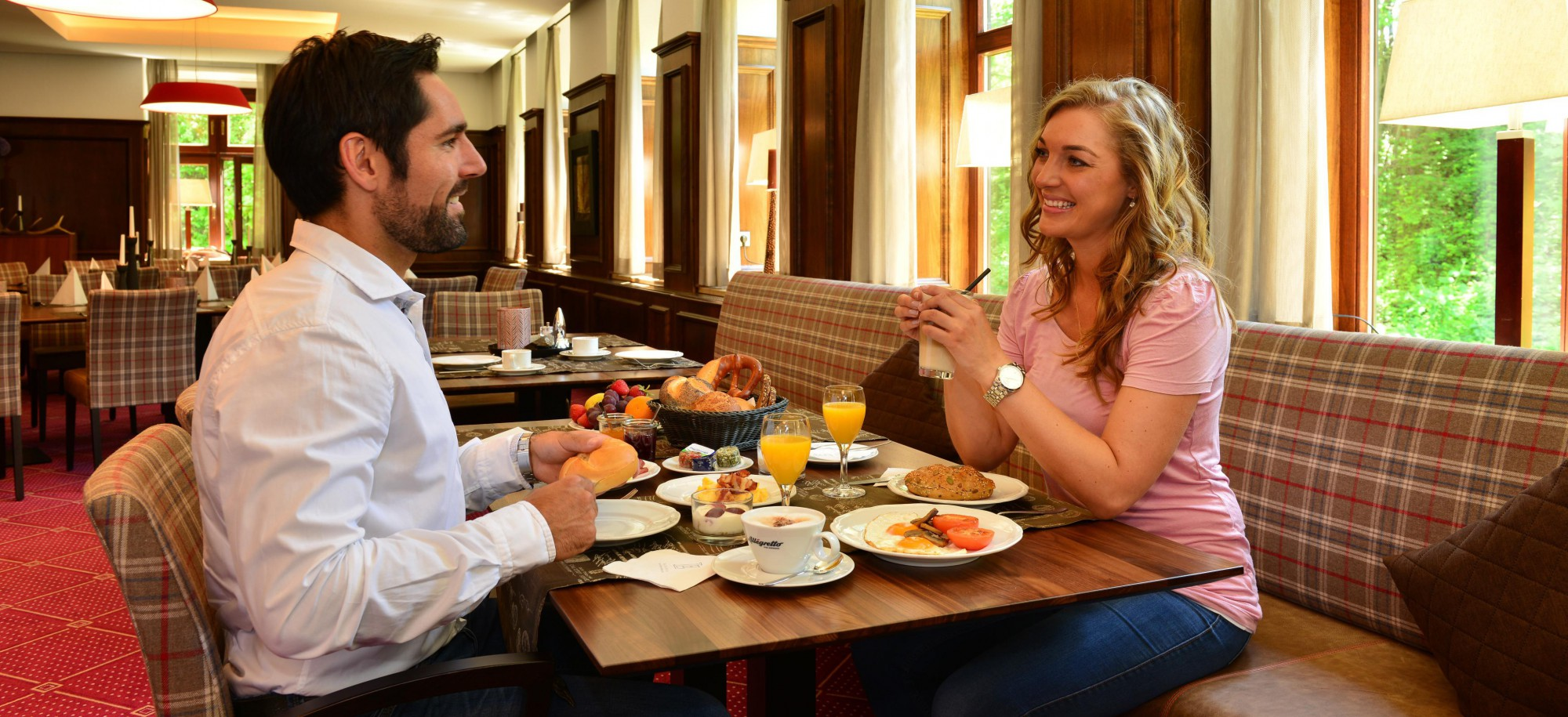 Gesundes Frühstücksbuffet im Hotel Restaurant Giengen