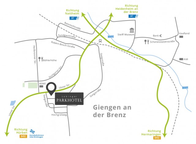 Hotel an der Autobahn A7 in Giengen Nähe Ulm