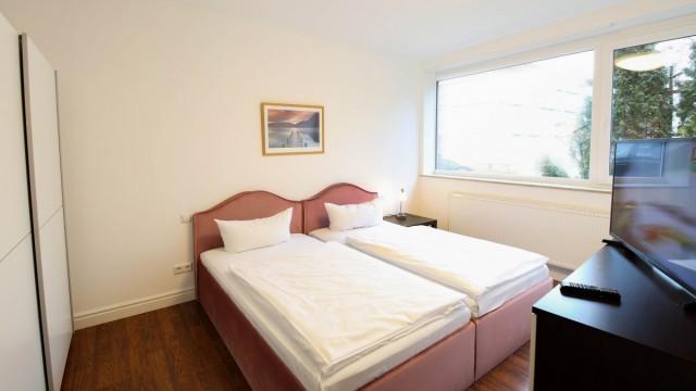 Schlafbereich im möblierten Appartement in Langenau