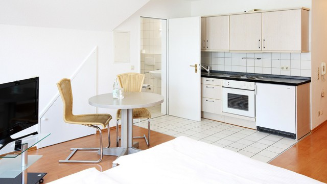 Ferienwohnung in Langenau mit Küchenzeile