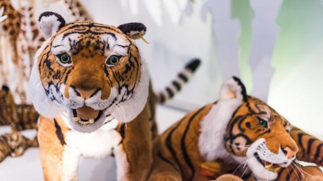 Tiger aus Plüsch im Steiff Museum Giengen