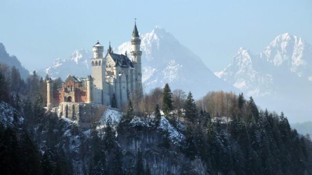 Schloß Neuschwanstein im Winter