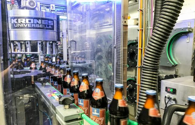 Abfüllung des Bieres unserer Brauerei