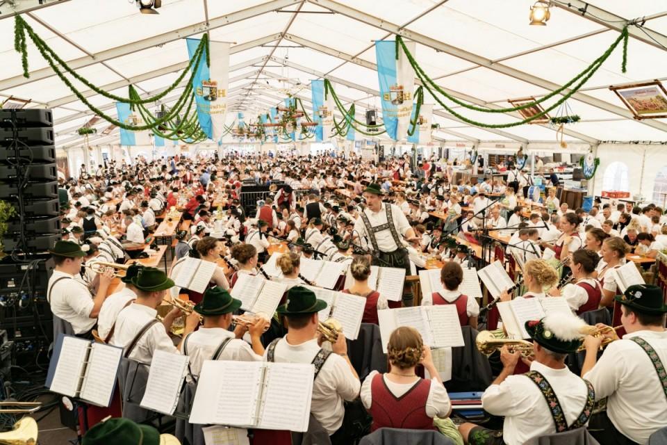 2019 Musikkapelle Söchering beim 55. Bezirksmusikfest in Raisting