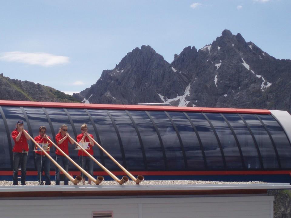 Alphörner auf Dach
