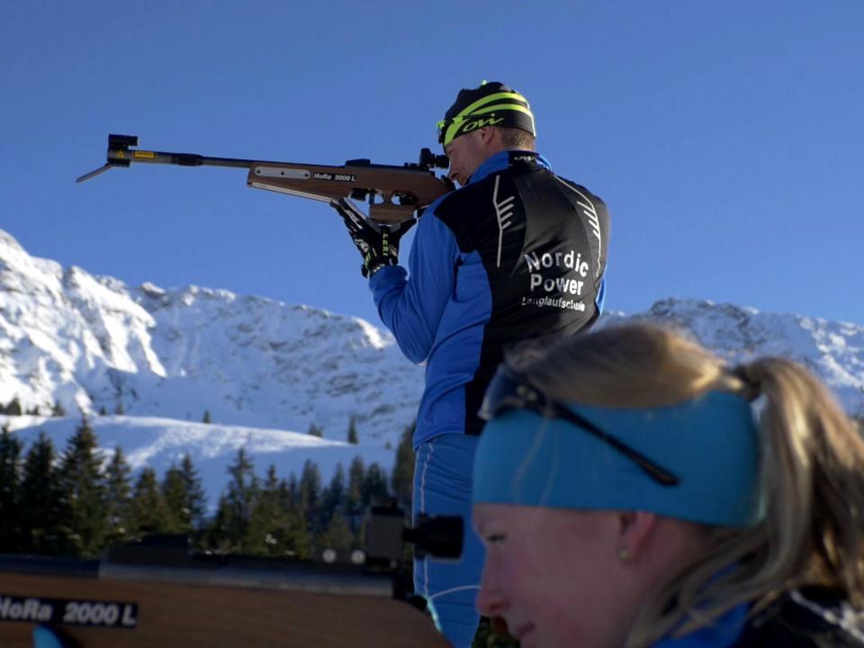 Nordic-Übungsarena für Biathlon