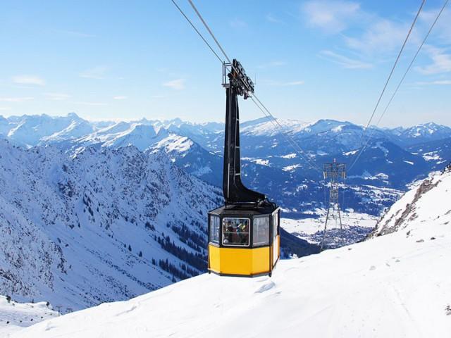 Nebelhornbahn im Winter