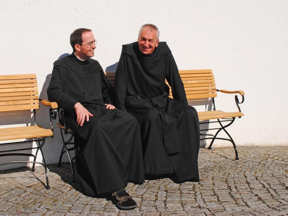 Pater Kolumban und Pater Christoph