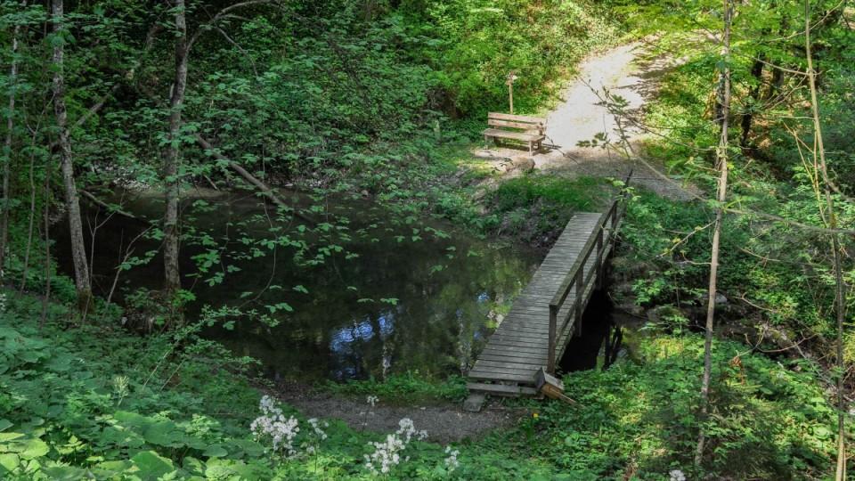 Brücke über Bächlein
