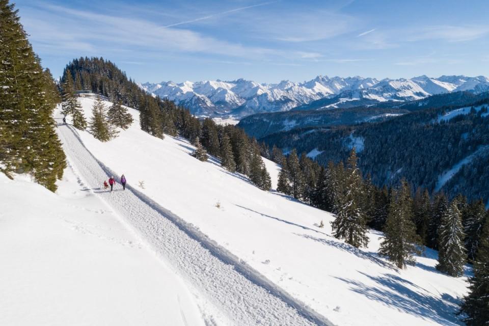 Winterwanderwege in Fischen/Hörnerdörfer