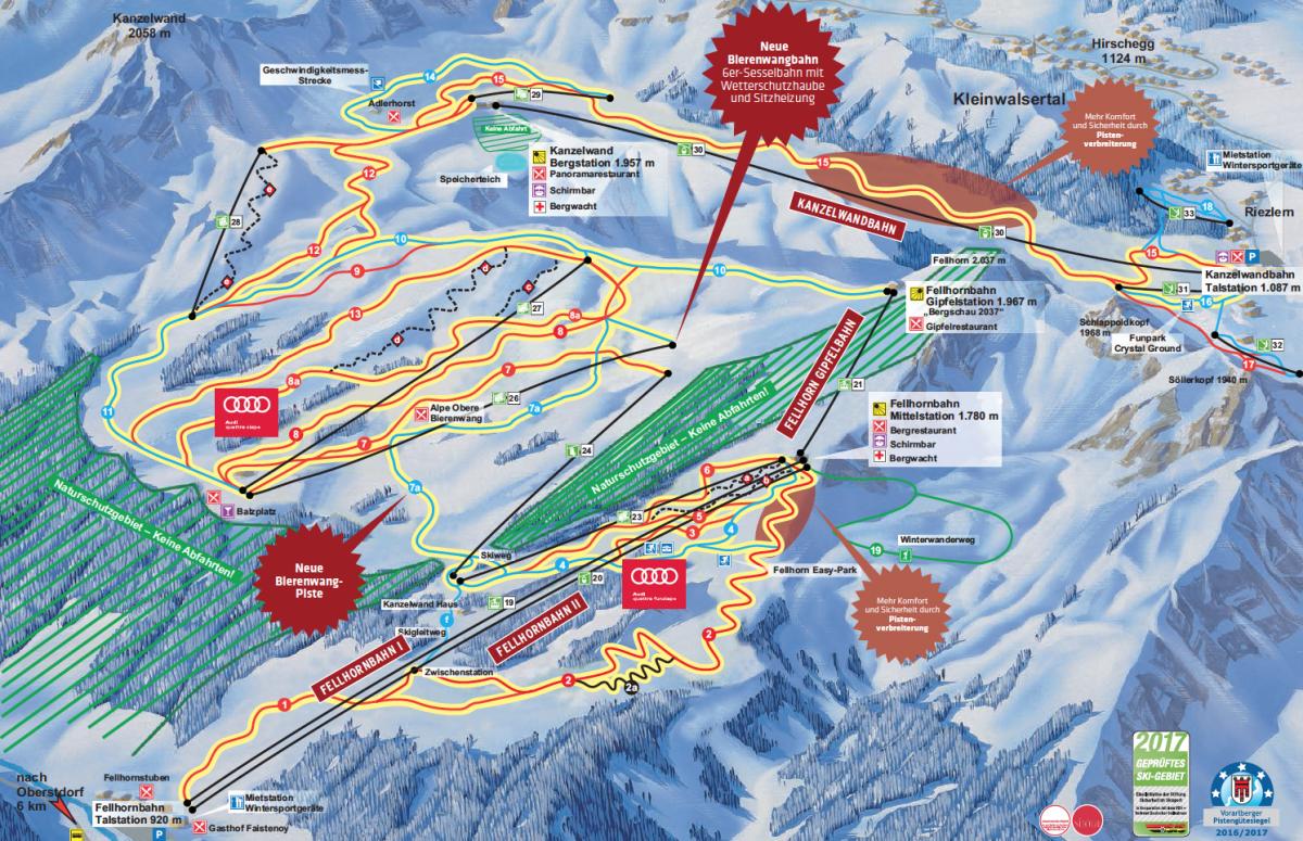 Skigebiete nahe Riezlern - Fellhorn und Kanzelwand