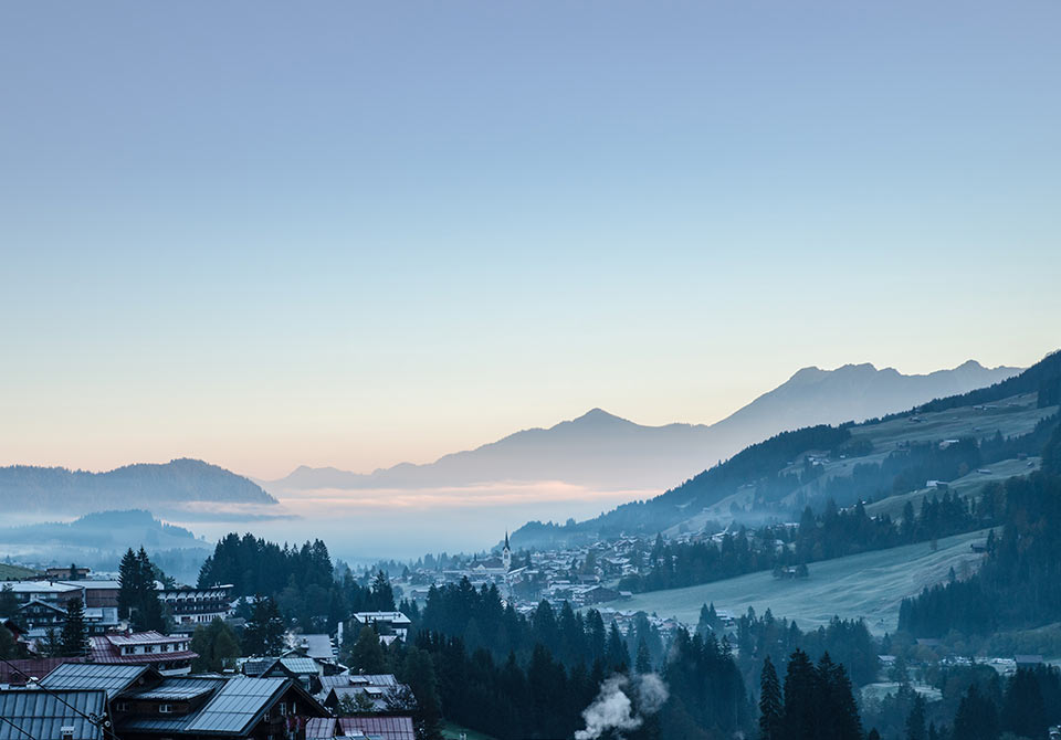 Urlaub im Kleinwalsertal mit Bergblick