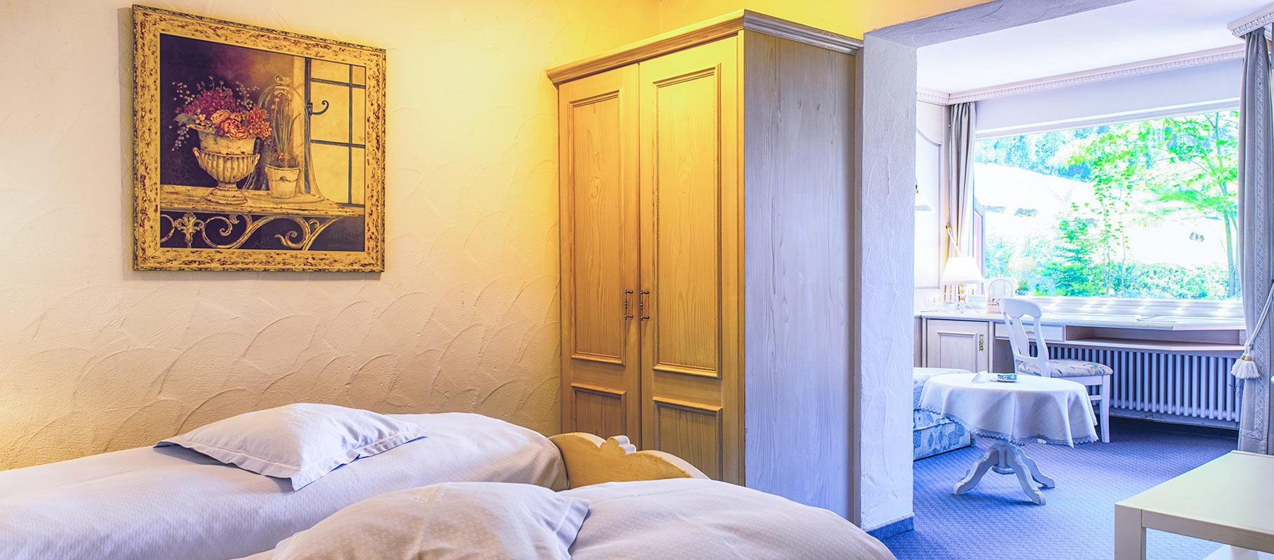 Doppelzimmer Edelweiß im Suitenstil mit Südbalkon