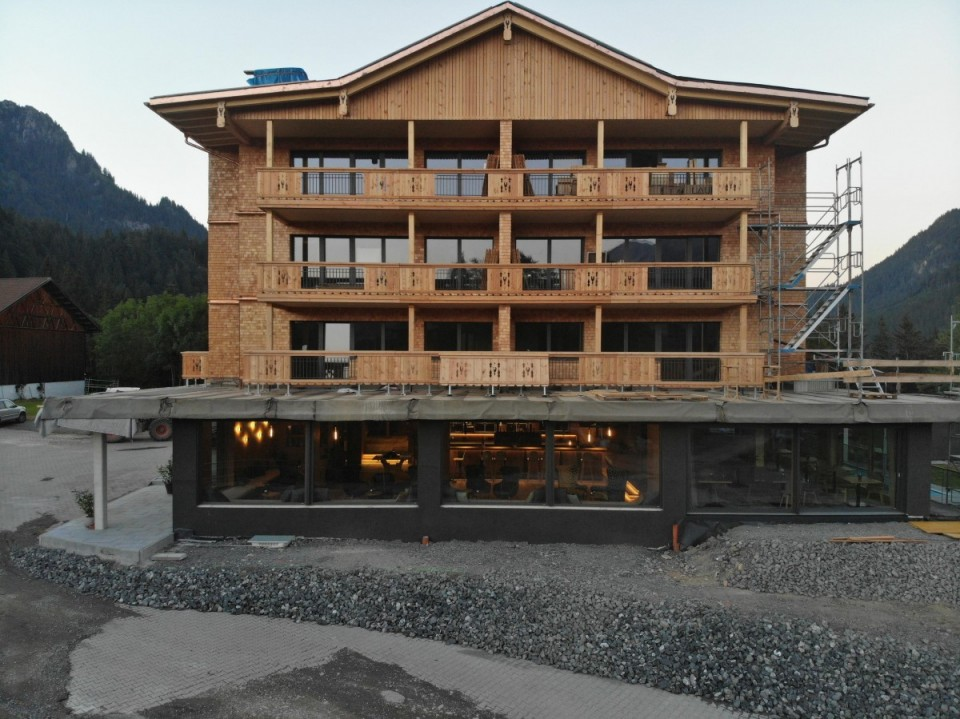 Hotel Rehbach zur Zeit des Umbaus